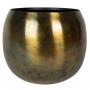 Cachepot de Metal Artesanal Cobre Sky Burn Indiano Kody 17x16cm