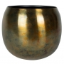 Cachepot de Metal Artesanal Cobre Sky Burn Indiano Kody 23x19cm