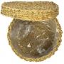 Cachepot de Seagrass Artesanal Natural Lex c/Tampa 24X15cm