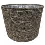 Cesto artesanal em seagrass Selin Preto 22X19cm