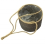 Cesto Natural de Pendurar de Seagrass Artesanal Cinza Igmar 23x18cm
