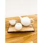 Conjunto para Café de Porcelana Branca Birds 3 peças
