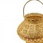 Lanterna Decorativa Dourada de Metal 19x17cm