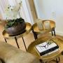 Mesinha Dourado Lily Thomas 48x50cm