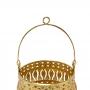 Porta Vela Dourado em Metal 14x10cm
