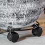 Suporte de Metal para Vaso com Rodas Preto 33x6cm