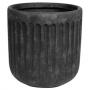Vaso de Cimento Artesanal Grafite Duncan 22x22cm