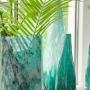 Vaso de Vidro Artesanal Azul Oceano Liz 9x40cm