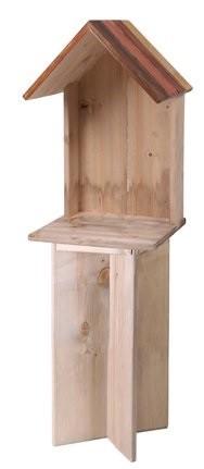 Aparador de livros em madeira (Roots) Warm -  27cm x 27cm x 84cm Cor: Marrom