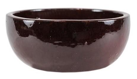Bacia artesanal em cerâmica (Bina) -  28cm x 15cm Cor: Vermelho