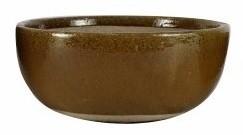 Bacia artesanal em cerâmica (Bina) -  34cm x 16cm Cor: Honey