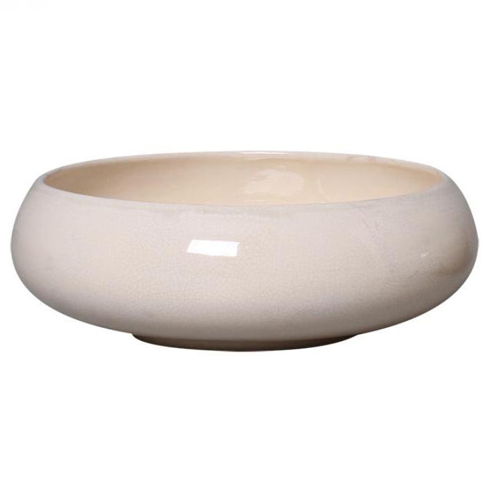 Bacia Cerâmica Branco Santorini 25x8cm
