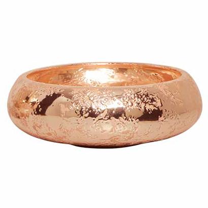 Bacia Cerâmica Bronze Envelhecido Sofy 30x9cm