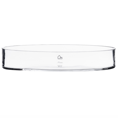 Bacia Cilindro de Vidro Artesanal Polonês 40X10cm