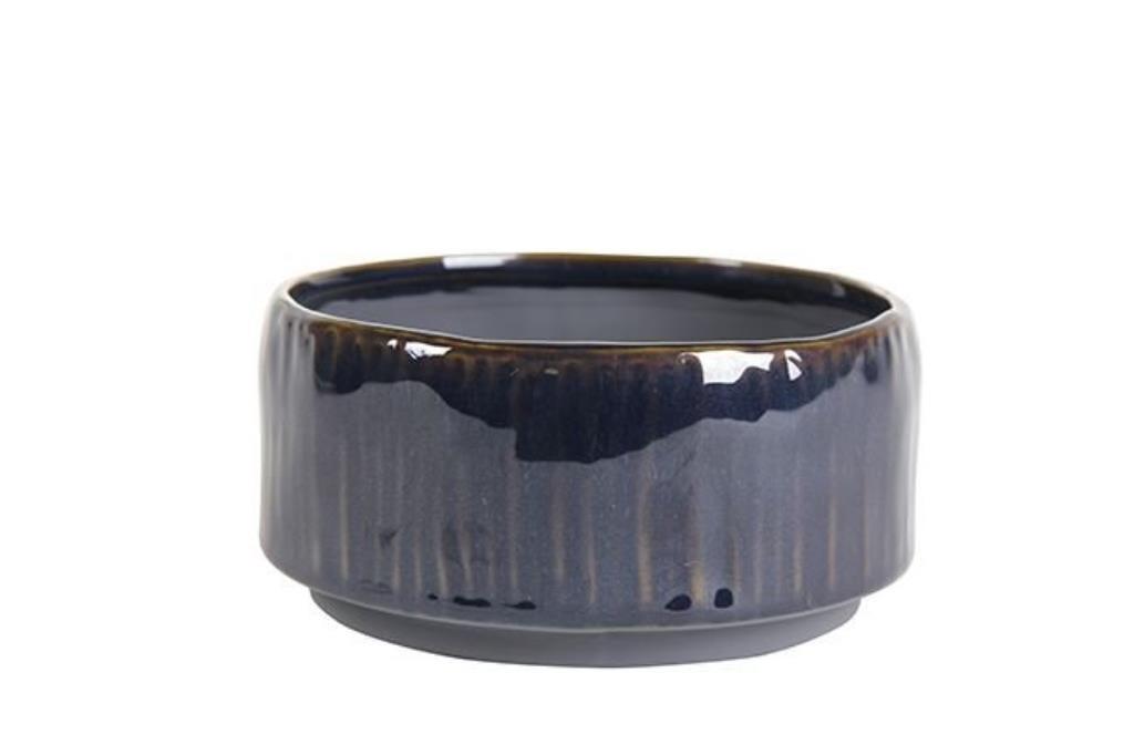 Bacia de Cerâmica Artesanal Azul Senne 19x9cm