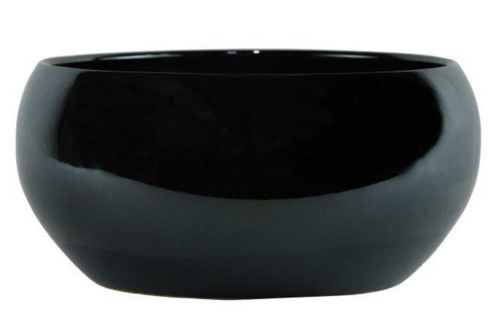 Bacia de Cerâmica Artesanal Chumbo Holandês Lorance 25x12cm