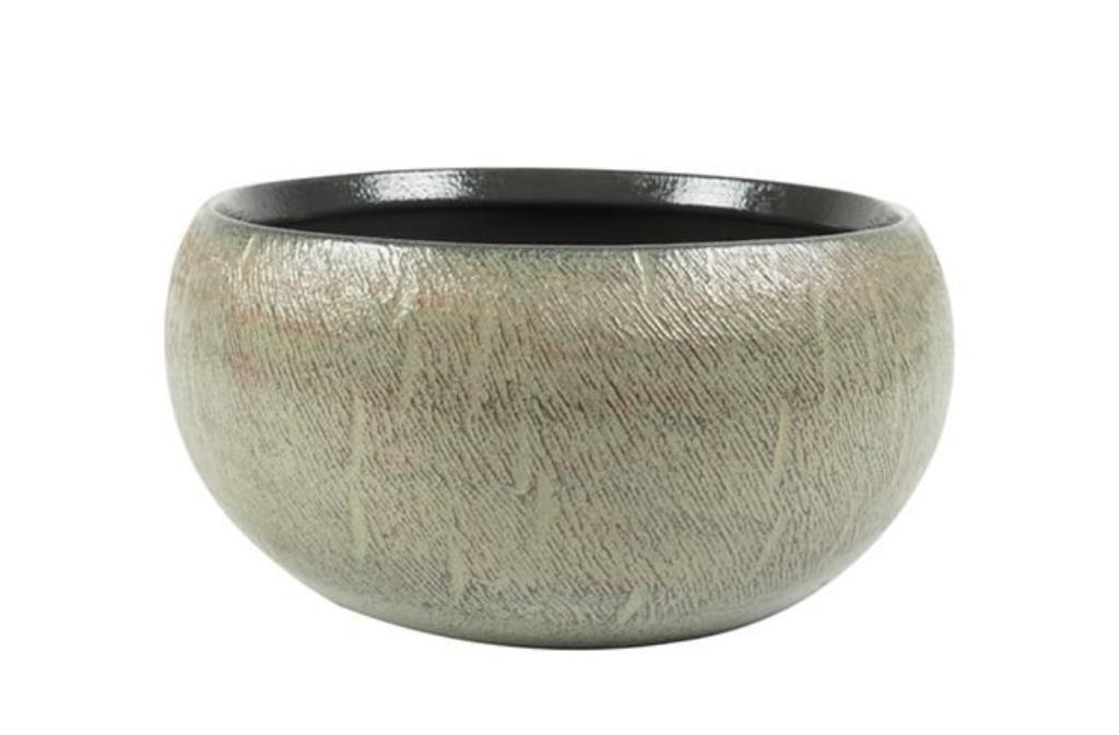 Bacia de Cerâmica Artesanal Cinza Ayla 38x11cm