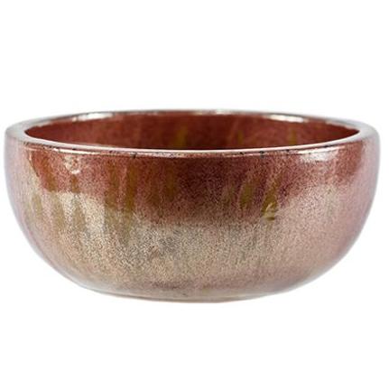 Bacia de Cerâmica Artesanal Cobre Bina 28x15cm