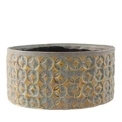 Bacia de Cerâmica Artesanal Mostarda Carol 10x20cm