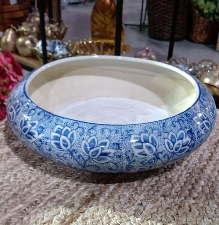 Bacia de Cerâmica Azul 20x6cm