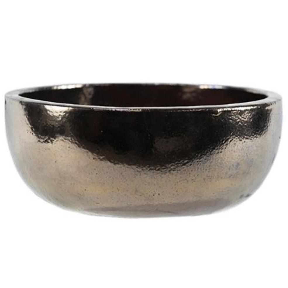Bacia de Cerâmica Artesnal Ouro Bina 28x15cm