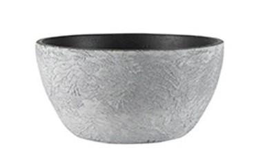 Bacia de Cerâmica Branca Artesanal Portuguesa Emil 28x13cm