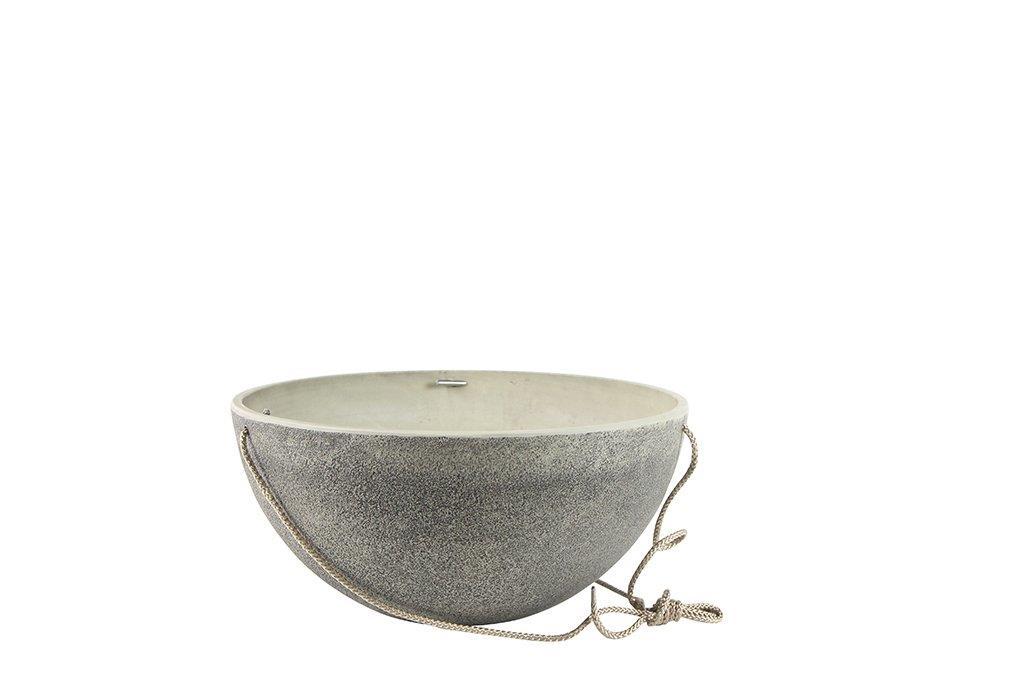 Bacia de Pendurar Artesanal  Nova Stone 35x17cm