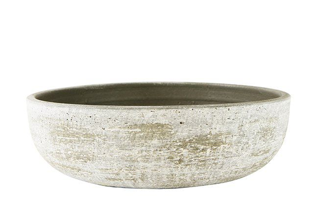 Bacia de cerâmica artesanal portuguesa (Karlijn) -  38cm x 11cm Cor: Areia