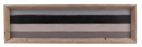Bandeja  de madeira  (Roots) Calm 80X24 Cor: Cinza
