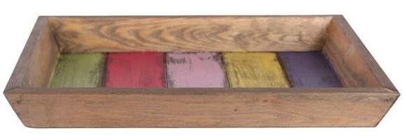 Bandeja de madeira  (Roots) Joy 32X24 Cor: Multicolor