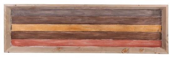 Bandeja de madeira  (Roots) Warm 100X30 Cor: Marrom