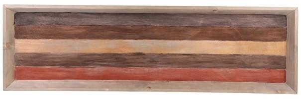 Bandeja de madeira  (Roots) Warm 120X36 Cor: Marrom
