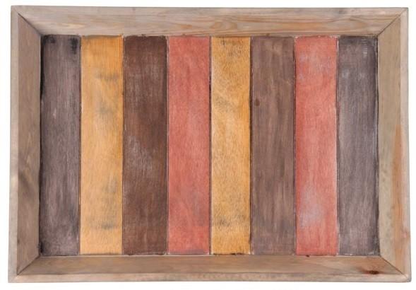 Bandeja de madeira  (Roots) Warm 60X42 Cor: Marrom