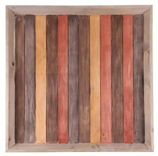 Bandeja de madeira  (Roots) Warm 60X60 Cor: Marrom