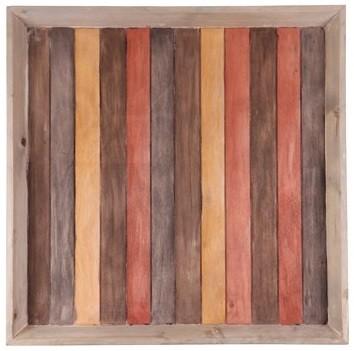 Bandeja de madeira  (Roots) Warm 70X70 Cor: Marrom