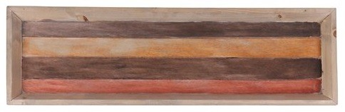 Bandeja de Madeira Artesanal Roots Warm 80x24cm