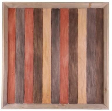 Bandeja de madeira  (Roots) Warm 80X80 Cor: Marrom