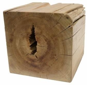 Banquinho Quadrado de Madeira Maciça Artesanalmente Quad 30x30cm