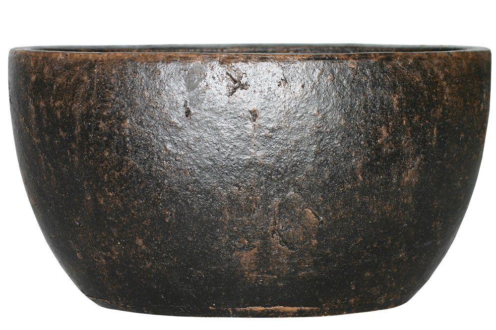Barco de Cerâmica Marrom Artesanal Anne 30x16x16cm