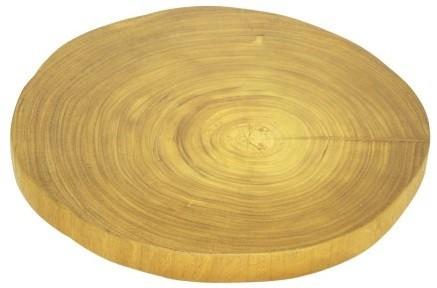 Base de mesa em madeira  maciça -  44cm x 04cm Cor: madeira