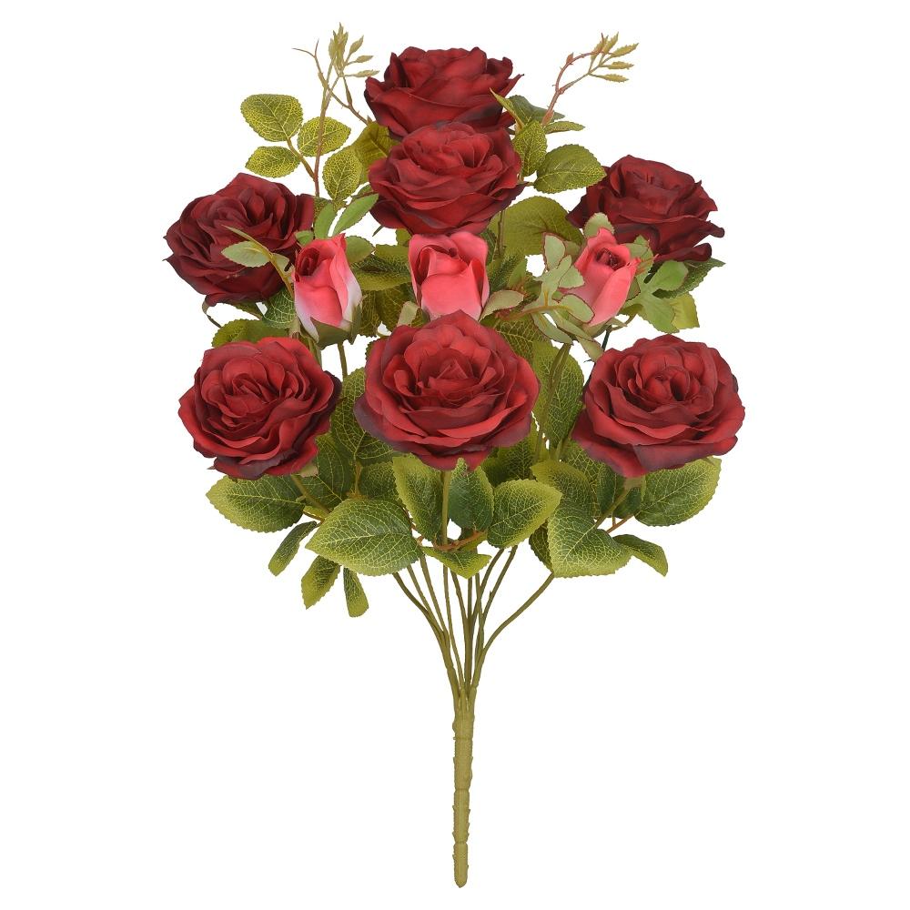 Buquê de Rosas Vermelha Permanente 48cm