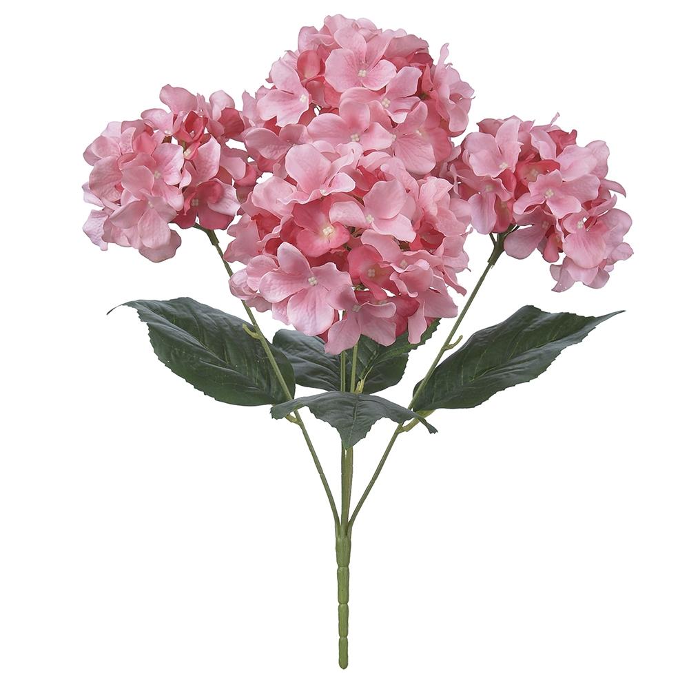 Buquê de Hortênsias Rosa Permanente 50cm