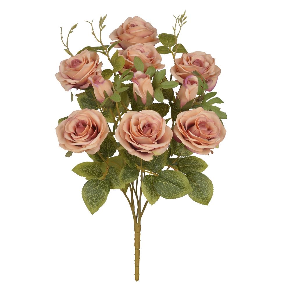 Buque de Rosa Laranja Permanentes 48cm