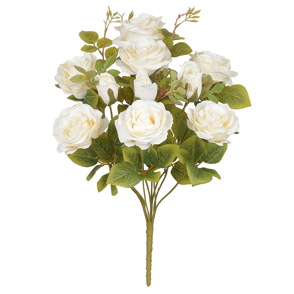 Buque de Rosas Creme Permanentes 48cm