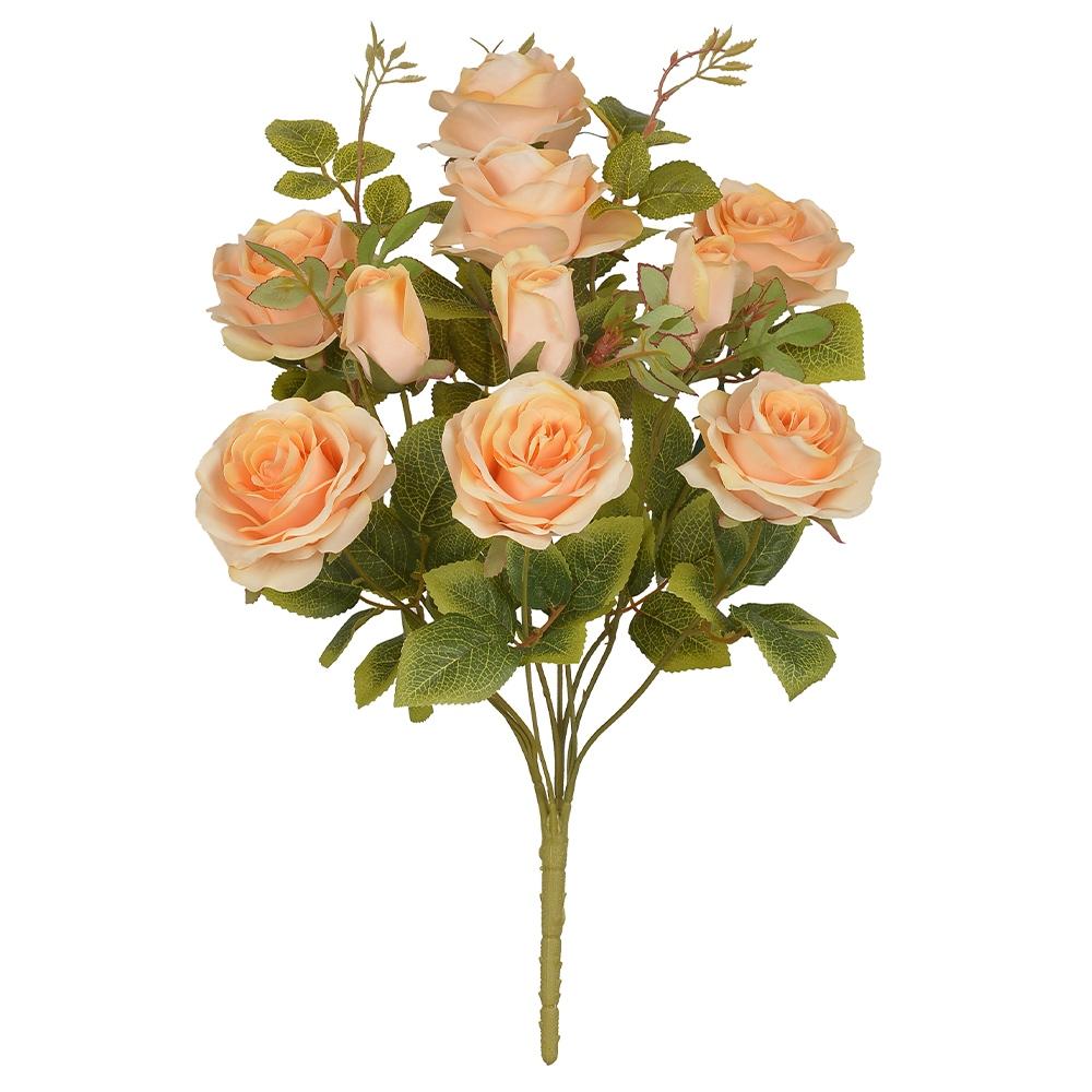 Buque de Rosas Laranjas Permanentes 48cm