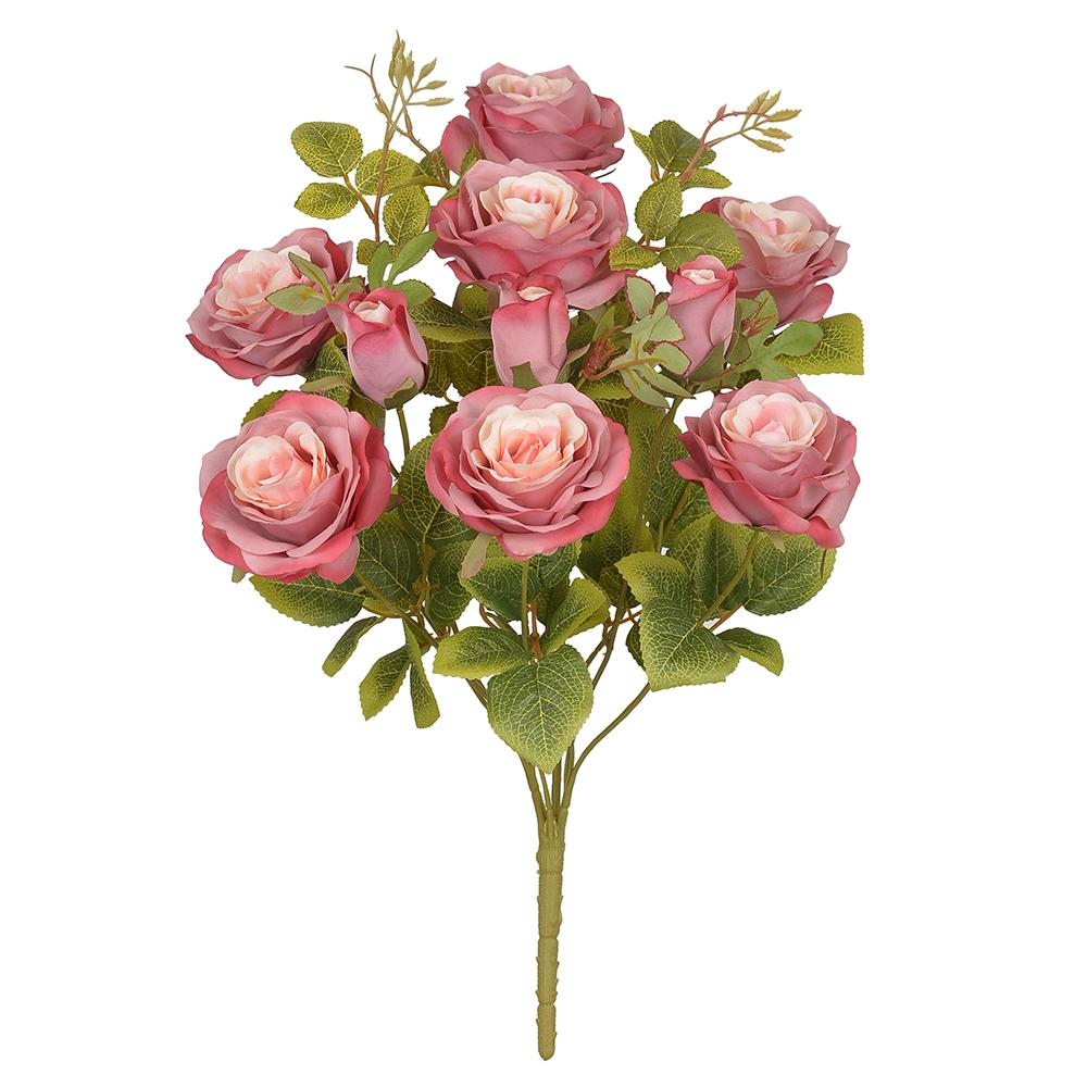 Buquê de Rosas Rosa Permanente 48cm