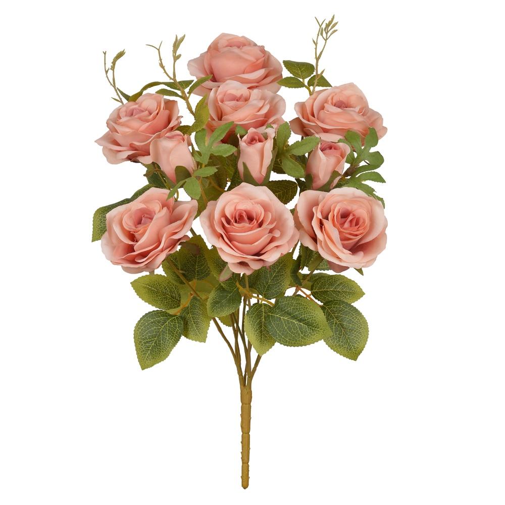 Buque de Rosas Rosa Antigo Claro Prementes 48cm