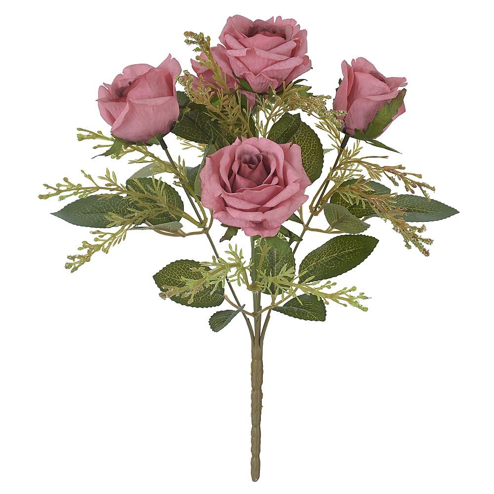 Buquê de Rosas Rosa Antigo Permanente 32cm