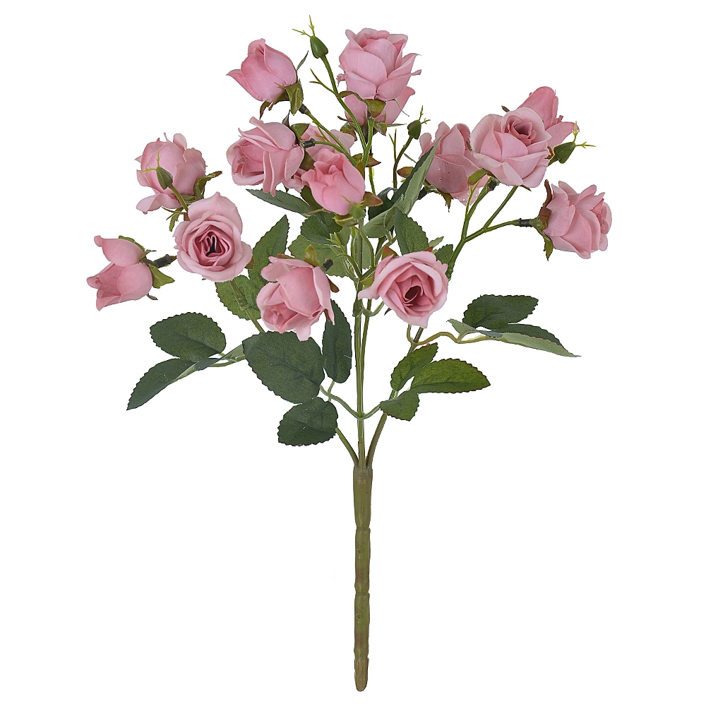 Buque de Rosas Mini Rosa Claro Permanentes 31cm