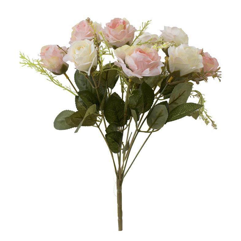 Buquê de Rosas Rosa Claro Permanente 40cm